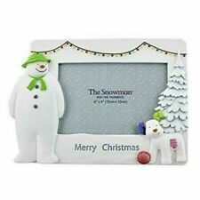 Snowman & the Snowdog Merry   Christmas Photo Frame Ray Briggs