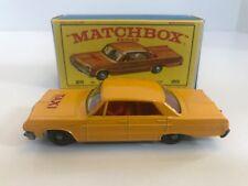 Matchbox Lesney #20 Chevrolet Taxi Cab Pristine In Original E Box