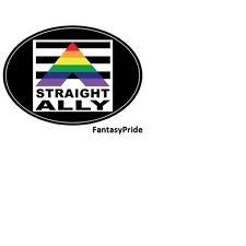 Gay Pride Straight Ally Auto or Truck Magnet Euro Design
