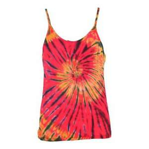 Tie Dye Cami Top Sleeveless Hippy Vest Top Boho Strappy