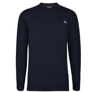 Vivienne Westwood Orb Sweatshirt Crew Neck Navy 100% Authentic