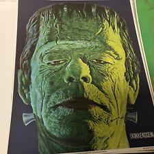 Vintage Universal Studios Monsters Posters Glow In The dark 1975 set of 4 Nice!