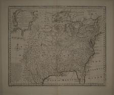 1747 Genuine Antique map North America. Louisiana. Florida. Canada. by E. Bowen