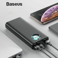 Baseus 20000mAh Power Bank For iPhone Samsung Huawei Type C PD Fast Charging USB
