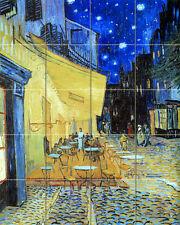 20 tiles Art Mural Ceramic Cafe Paris Van Gogh Backsplash Tile #165