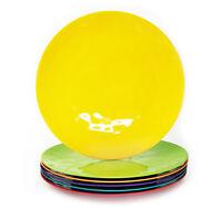 6 Piece 100% Melamine Dinner Plates,Break-resistant and Lightweight,Multi Color