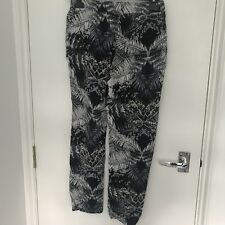 Anthropology Second Female Trousers Print Size M 26 Back and White  Holiday