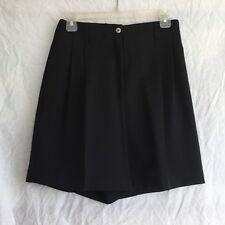 Haley Black Golf Shorts Microfiber Loose Leg Sz 8 Pleated Hidden Pocket Nwt $45