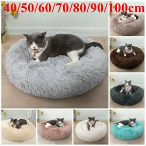 Dog Cat Pet Calming Beds Plush Cushion Fluffy Washable Puppy Comfy Mat Comfy go