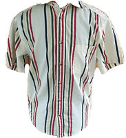 Urban Outfitters Mens XS Striped Multicolored  Button Front Short Sleeve Shirt