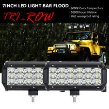 """2X 6""""inch 180W CREE LED Work Light Bar Flood Offroad For Jeep 4WD Pickup Fog 7"""""""
