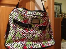 BETSEYVILLE Betsey Johnson WEEKEND X-LARGE Tote Zebra Stripe with Strawberries