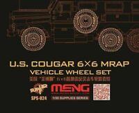 Meng Model 1:35 - US Cougar 6x6 MRAP Wheel Set (Resin) MNGSPS-024