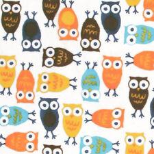 """SHANNON """"RKC NIGHT OWLS CUDDLE"""" Orange by the Fat Half (1/2 yard)"""