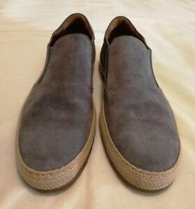 To Boot New York Adam Derrick Suede Slip-on Espadrilles Sneaker Grey uk 8 eu 42