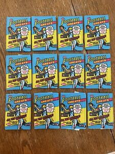 Lot Of (12) 1988 SWELL NFL Football Greats Unopened Sealed Wax Packs