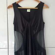 Black SEXY Sheer CUTOUTS Lingerie Nightwear INTIMATES Slip Made in Britain