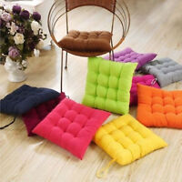 Soft Chair Cushion Seat Pads Square Tie on Plain Home Pillow Mats Dining Room