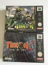2 Jeu Nintendo 64 (N64)Turok 1 - Turok 2 Seeds of evil - N64  no SNES Switch