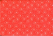 2 Yards Red with White Flowers Quilting Fabric
