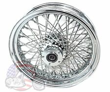 "Chrome DNA 16 X 3.5"" 80 Spoke Rear Wheel Harley Sportster Dyna Softail Bobber"
