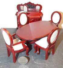 Dollhouse Miniature Mahogany Dining Room Set 1:12 inch scale H79 Dollys Gallery