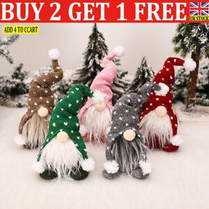 Christmas Gnomes Plush Santa Doll Xmas Gonk Dwarf Elf Decor Gifts Ornaments F