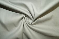 Silver Gray Poplin #11 Cotton Lycra Spandex Stretch Woven Apparel Fabric BTY