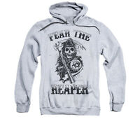 SONS OF ANARCHY FEAR THE REAPER Adult Pullover Hooded Sweatshirt Hoodie SM-3XL