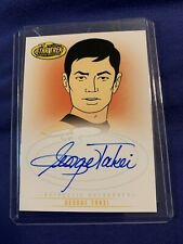 2003 Star Trek Animated Auto Autograph George Takei Signed Card A3 Awesome!!!