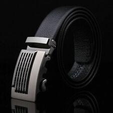 Automatic Buckle Men's Fashion Casual Waist Strap Belts Waistband PU Leath- U5Y6