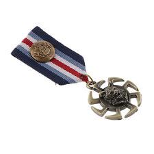 Uniform Badge Brooch Pin Gothic Punk Novelty Wheel Pendant Wolf Head Fabric