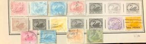 Lot of Western Australia Old Stamps Used