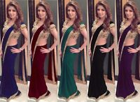Indian Pakistani Bollywood Saree Wedding Party wear New Ethnic Designer Sari MA