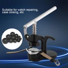 Einpresswerkzeug Gehäuseschließer Deckelpresse Uhrmacher 12 Druckplatten Schwarz