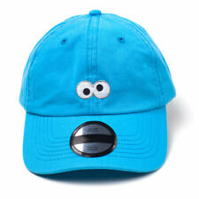 Sesame Street Cookie Monster Embroidered Eyes Dad Cap Blue