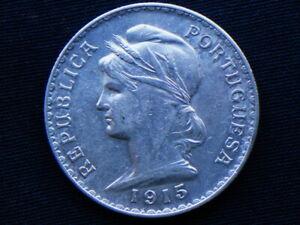 1915 PORTUGAL rare silver COIN 1 escudo GREAT QUALITY