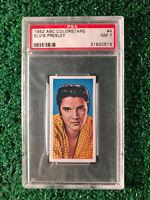 1962 Elvis Presley ABC Color Stars Trading Card #4 PSA Graded NM 7 - Scarce