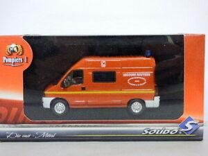 Solido Pompiers-Fire Diecast Metal 21015 Peugeot Boxer Secours Routier
