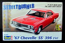 """Revell """"Street Burner"""" l967 Chevelle Ss 396 2'n1 Model 1:25 Scale #85-4285 Rare"""