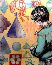 "David Bromley ""Young Leonardo da Vinci""152 cm. x122cm. Acrylic on canvas."