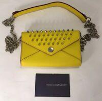 Rebecca Minkoff Studded Genuine Leather Flap Organizer Clutch Crossbody Wallet