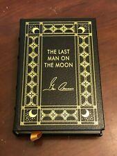 Gene Cernan Apollo 10 17 NASA Astronaut Moon Easton Press Signed Autograph Book