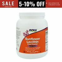 Now Foods Sunflower Lecithin Pure Vegan Powder 1 lb (454 g) Non-GMO, Soy-Free