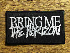 Bring Me The Horizon Sew Iron On Patch Logo Embroidered Heavy Metal Rock Band