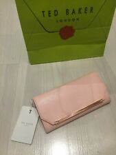 Ted Baker Pink Leather Matinee Purse Rose Gold RRP £119 Valentines Gift : New
