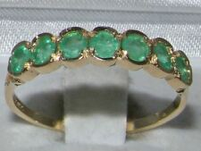 9ct Yellow Gold Ladies Emerald Anniversary Eternity Band Ring