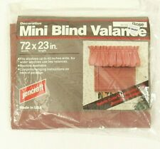 Mauve 1980s Balloon Valance 72x23 Vintage New in Package