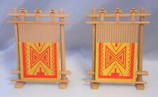 Playmobil 2 x Webrahmen Webstuhl mit Teppich für Indianer Western Marktstand # 7