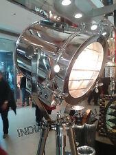VINTAGE INDUSTRIAL DESIGNER NAUTICAL SPOT LIGHT TRIPOD FLOOR LAMP